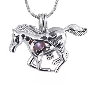 18k Gold Plated Horse Wish Pearl Oyster Gift Set